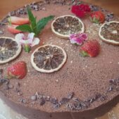 Pastel chocolate crudivegano
